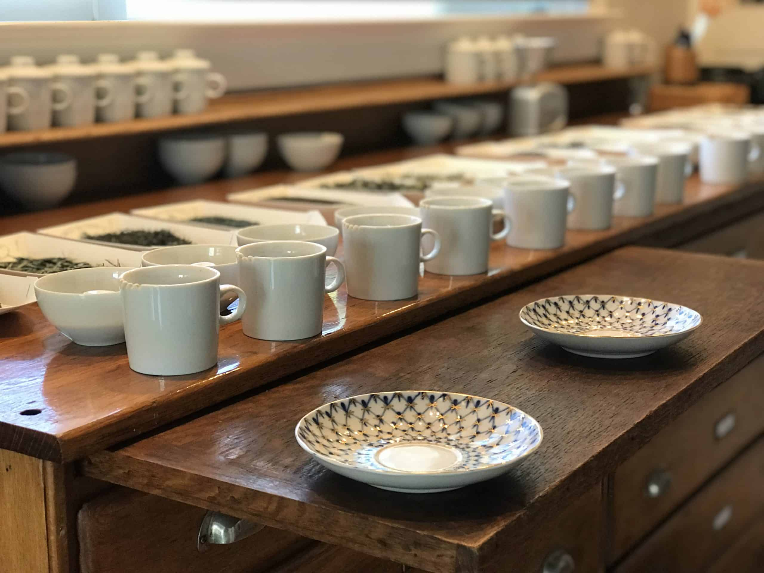 Photo of teas on cupping table